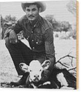 Cowboy, 20th Century Wood Print