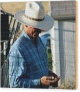 Cowboy.. Wood Print