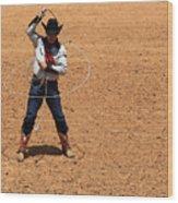 Cowboy Entertainer Wood Print