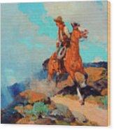 Cowboy Wood Print