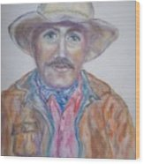 Cowboy Jim Wood Print