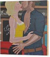 Cowboy Kiss Wood Print