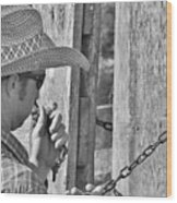 Cowboy Life Wood Print