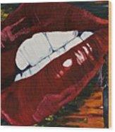 Cowboy Lips Wood Print