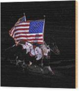 Cowboy Patriots Wood Print