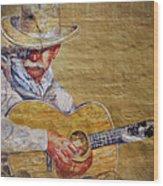Cowboy Poet Wood Print