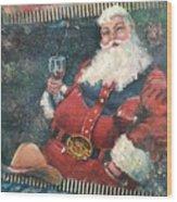 Cowboy Santa Wood Print