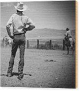 Cowboy Stance Wood Print