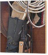 Cowboy Tack Wood Print