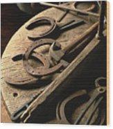 Cowboy Tools Wood Print
