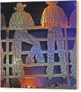 Cowboys 1 Wood Print