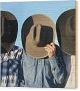 Cowboys Anonymous Wood Print