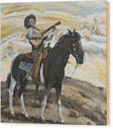 Cowboy's Dream Wood Print