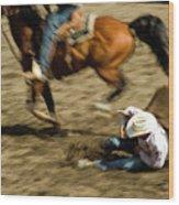 Cowboy's Grip Wood Print
