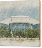 Cowboys Stadium Wood Print