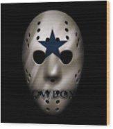 Cowboys War Mask 3 Wood Print