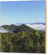 Cowee Overlook At Black Rock Mountain State Park Wood Print
