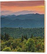 Cowee Sunset. Wood Print