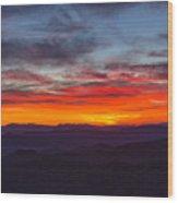 Cowee Sunset Wood Print