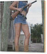 Cowgirl 019 Wood Print