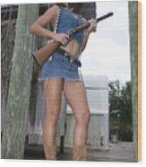 Cowgirl 020 Wood Print