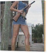 Cowgirl 021 Wood Print