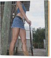 Cowgirl 023 Wood Print