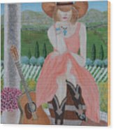 Cowgirl Attitude Wood Print