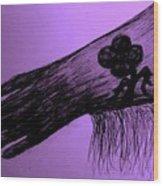 Cowgirl Glove Plum Classy Wood Print