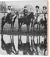 Cowgirls, 1907 Wood Print