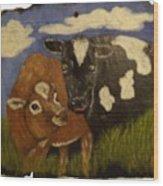 Cow's Wood Print
