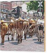 Cowtown Stockyards Wood Print