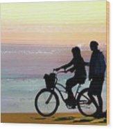 Cox Bay Bike Wood Print