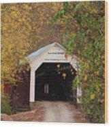 Cox Ford Covered Bridge Wood Print