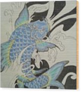 Coy Splash 1 Wood Print
