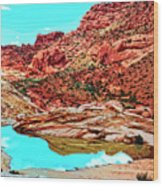 Coyote Butte Wood Print