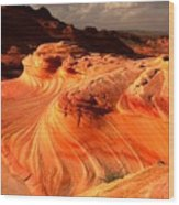 Coyote Buttes Rainbow Dragon Wood Print