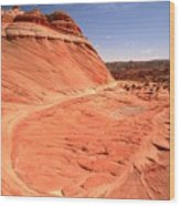Coyote Buttes Swirling Sandstone Wood Print