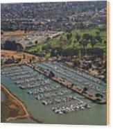 Coyote Point Marina San Francisco Bay Sfo California Wood Print