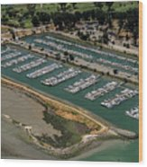 Coyote Point Yacht Club In San Mateo, California Wood Print
