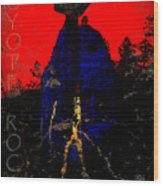 Coyote Rock Wood Print