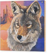 Coyote The Trickster Wood Print