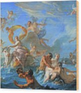 Coypel's The Abduction Of Europa Wood Print