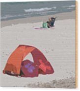 Cozy Hide-a-way For Two On A Florida Beach Wood Print
