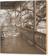 Cozy Southern Porch Wood Print