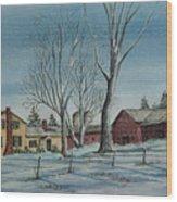 Cozy Winter Night Wood Print
