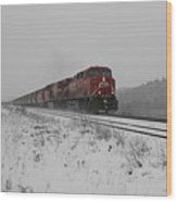 Cp Rail 2 Wood Print by Stuart Turnbull