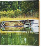 Crab Boat Retired Wood Print