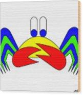 Crab-Mac-Claw Wood Print