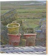 Crab Pots And Baskets Wood Print